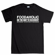 Foodaholic Food Addict Kitchen T shirt - Funny Slogan Gift Present Tee T-shirt