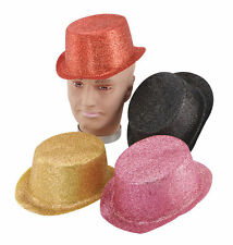 ADULT GLITTER TOPPER HATS# ALL COLOURS FANCY DRESS OUTFIT ACCESSORY