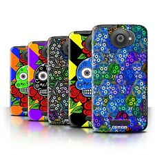 STUFF4 Back Case/Cover/Skin for HTC One X/Candy Skull Calavera