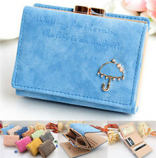 Cute Women's Trifold Leather Button Wallet Ladys Short Handbag Clutch Purse AU
