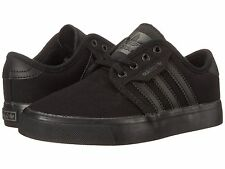 ADIDAS ® SEELEY J CANVAS BLACK BLACK KIDS CASUAL SHOES *ORIGINAL & NEW IN BOX