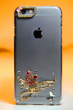 Luxury 3D Bling Rhinestone Diamond Hard Case Cover for Apple iPhone (ColrBlsm)