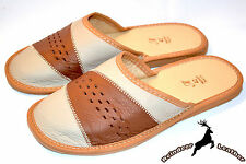 Mens Genuine Full Grain Leather Flip Flop Slippers Shoes Sandal Handmade Scuff