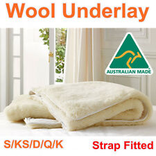 Aus Made All Size Luxury 100% Pure Wool Underlay/Underblanket/Mattress Topper