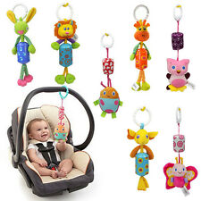 Lovely Baby Infant Rattles Plush Animal Sleeping Stroller Music Hanging Bell Toy