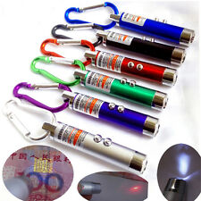 Portable Laser Pen Pointer LED Flashlight Torch Money Detector Ultraviolet Gift