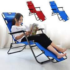 Zero Gravity Recliner Camping Outdoor Beach Lounge Chair Patio Folding Recliner