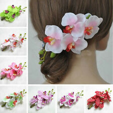 Nice Bridal Wedding Party Orchid Flower Hair Clip Barrette Women Girl Hair Decor
