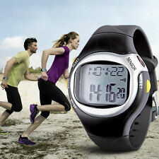 Sports Running Pulse Heart Rate Monitor Pedometer Calories Counter Wrist Watch