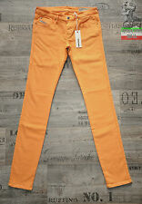 DIESEL SKINZEE LOW 815W 0815W 28 29 30 HOT ORANGE SUPER SKINNY NEW WOMENS JEANS