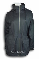 NEW Womens COLUMBIA Omni-Tech waterproof breathable hooded rain jacket Black