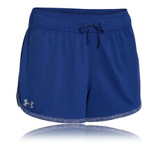 Under Armour Tech Womens Blue Gym Sports Loose Fit Shorts Pants Bottoms