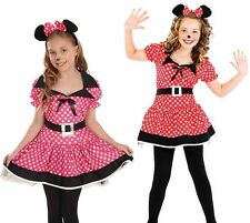 Childrens Minnie Mouse Fancy Dress Costume Disney Kids Girls Outfit 4-12 Yrs