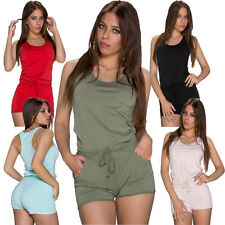 Ladies Jumpsuit Overall Hotpants Playsuit S 34 36 Leisure Sports Club Party sexy