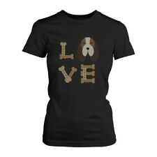 Basset Hound LOVE Women's T-shirt Cute Tee for Dog Owner Puppy Printed Shirt