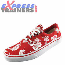 Vans Era Tropicoco Mens Classic Casual Printed Plimsoll Trainers Red