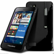 S-Line Slim TPU Wave Gel Rubber Phone Case Cover for Blackberry