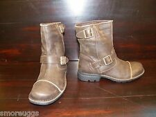 NEW MENS Leather UGG ROCKVILLE II DUNE Biker Work Boot Sheepskin Insoles