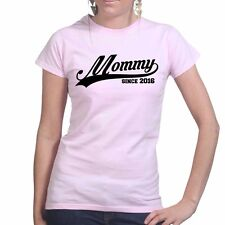 Mommy Since 2016 Mothers Day Gift for Mum Mom Ladies T shirt Tee Top T-shirt