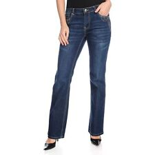 OSO Casuals Stretch Denim Embroidered Detail Boot Cut Five-Pocket Jeans