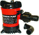 "New Cartridge Bilge Pump johnson Pump 32503 GPH 500 Hose 3/4"" 12V 2.5A"