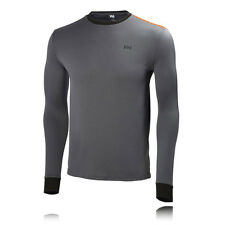 Helly Hansen HH Active Flow Mens Grey Baselayer Long Sleeve Sports Top