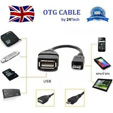 10 OTG Brand New UK Bundled Micro USB Host Cable USB Adapter Android Tablet