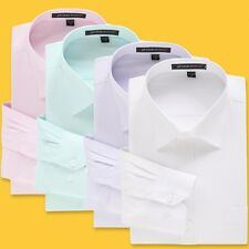 New Mens Luxury Formal Dress Shirts Business Casual Shirts 6 Colors