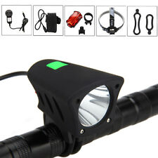 3000Lm Rechargeable CREE XM-L T6 LED Front Bicycle Lamp Bike Head Tail Light +AC