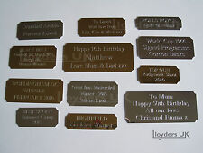 Cut Corner Engraved Plaques Plates for Awards, Pictures, Frames, Engraving Sizes