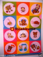 SAN-X JAPAN ANIME RILAKKUMA KORILAKKUMA LISTEN MUSIC CLEAR FILE HOLDER PROMO USA
