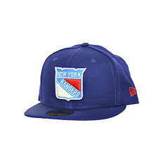 New Era New York Rangers 59Fifty Fitted Hat Cap Navy Blue/White 10261074