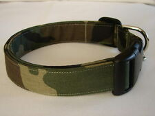 Charming Army Green Camouflage Dog Collar
