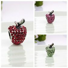Fashion  Charm bead Full Crystal Fit European silver Bracelet & Necklace