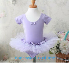 New Girls Party Ballet Outfit Tutu Dance Skate Leotard Skirt Princess Dress 3-8Y