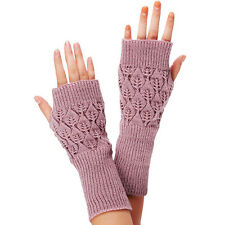 Unisex Women Ladies Fingerless Gloves Warm Gloves Knitted Winter Warm Hot