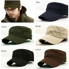 Hot Unisex Trucker Visor Military Hat Cadet Patrol Baseball Cap Brim Hats YD05