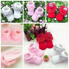 Lovely Toddlers Infant Cotton Ankle Socks Baby Princess Bowknots Socks 0-6 Month