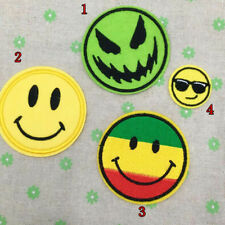 Diy Craft Face Embroidered Iron Transfer Sew On Patch Clothes Bag T Shirt Badge