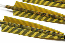 12X Archery Hunting Yellow Camo Pure Carbon Arrows Compound Recurve Bow Screw