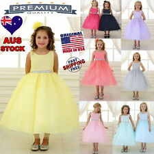 Tulle Flower Girl Dress Girls Party Special Occasion Dress Jr Bridesmaid Dress