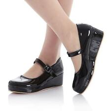 Mary Janes Lolita Shoe Patent Leather Sweet Ankle Strap Ladies Platform Creepers