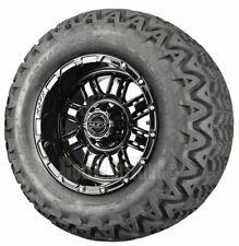 """(4)12"""" MJFX Transformer (Black) Wheel and Tire Combo for Golf Cart by Madjax"""
