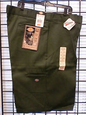 "Dickies Mens 13"" Multi-Pocket Loose-Fit-Work Shorts 42283 OLIVE GREEN & CHARCOAL"