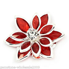 Wholesale Lots Craft Embellishment Findings Rhinestone Flatback Red 23x24mm