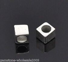 Wholesale Lots Silver Tone Tiny Cube Spacers Beads Findings