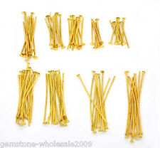 Wholesale Mixed Lots Gold Plated Flat Head Pins Findings
