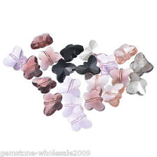Wholesale Lots Mixed Butterfly Crystal Quartz Beads 15x12mm