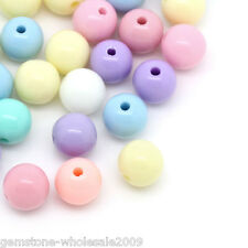 Wholesale Market Mixed Acrylic Round Ball Spacer Beads 6mm Dia.