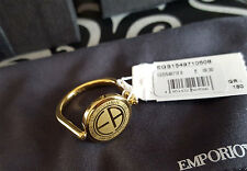 Emporio Armani Ladies Ring Size 7 or 8 Gold Colour Reversible EGS1549710 New